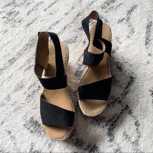 Franco Sarto Tulsa Espadrille Wedge Sandal Size 8